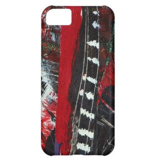 ¡Ciudad del rasgón! Rojo, negro y blanco Funda Para iPhone 5C