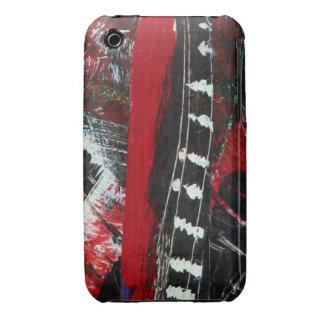 ¡Ciudad del rasgón!  Rojo, negro y blanco iPhone 3 Case-Mate Carcasas