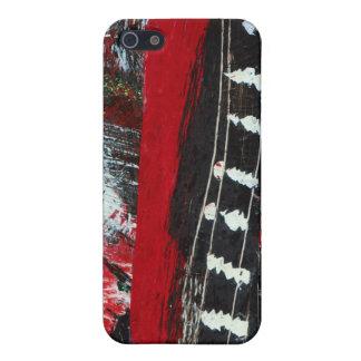 ¡Ciudad del rasgón! Rojo, negro y blanco iPhone 5 Carcasa