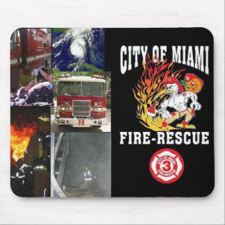 Ciudad del rescate del fuego de Miami estación 3 Alfombrillas De Ratón
