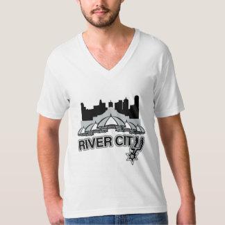 Ciudad del río playera