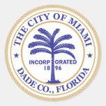 Ciudad del sello de Miami Etiqueta Redonda