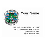 Ciudad del sello de Sacramento Plantillas De Tarjeta De Negocio