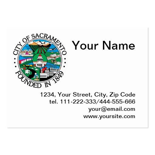 Ciudad del sello de Sacramento Tarjetas De Visita Grandes