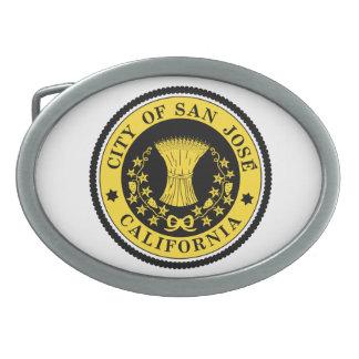 Ciudad del sello de San Jose Hebillas De Cinturon Ovales