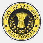 Ciudad del sello de San Jose Pegatina