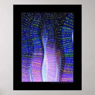 Ciudad del seno (azul) impresiones