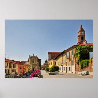 Ciudad del sujetador, poster de Piamonte Italia