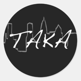 ciudad del taka pegatina redonda