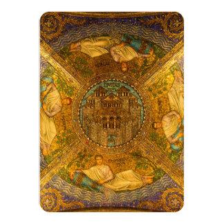 """Ciudad del techo de catedral bizantino neo del invitación 4.5"""" x 6.25"""""""