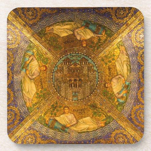 Ciudad del techo de catedral bizantino neo del mos posavasos
