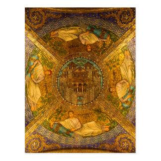Ciudad del techo de catedral bizantino neo del postal