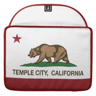 Ciudad del templo de la bandera del estado de Cali Funda Para Macbook Pro