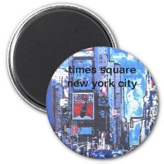 Ciudad del Times Square N Y del poster del viaje d Imán Para Frigorífico