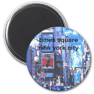 Ciudad del Times Square N Y del poster del viaje d Imán Redondo 5 Cm