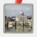 Ciudad del Vaticano Adorno Navideño Cuadrado De Metal