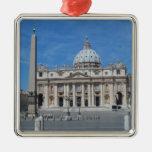 Ciudad del Vaticano de la basílica de San Pedro Adorno Navideño Cuadrado De Metal