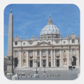 Ciudad del Vaticano de la basílica de San Pedro Pegatina Cuadrada