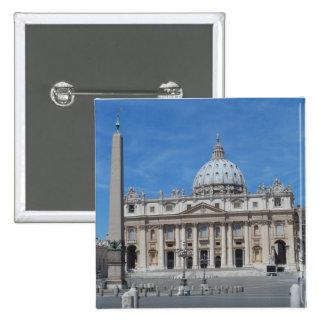 Ciudad del Vaticano de la basílica de San Pedro Pin Cuadrada 5 Cm