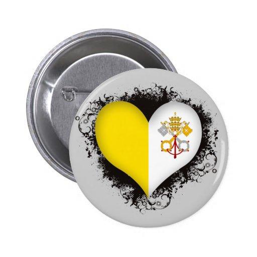 Ciudad del Vaticano del amor del vintage I Pin Redondo 5 Cm
