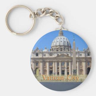 Ciudad del Vaticano Llavero Redondo Tipo Pin