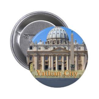 Ciudad del Vaticano Pin Redondo De 2 Pulgadas
