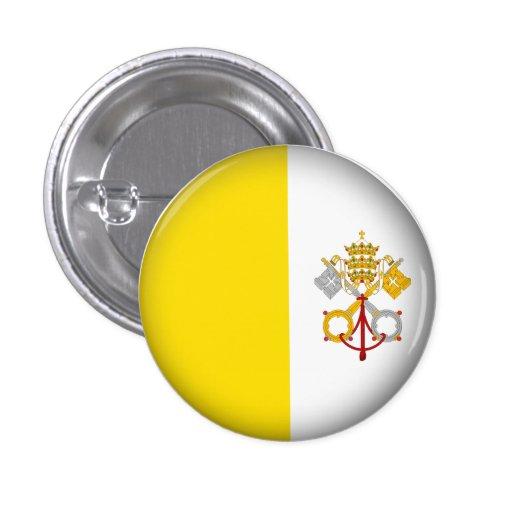 Ciudad del Vaticano redonda Pins