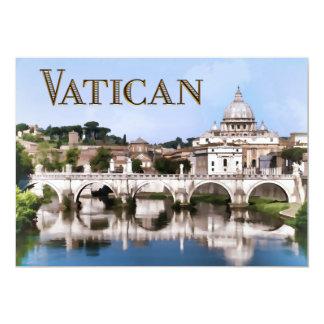 """Ciudad del Vaticano vista del texto VATICAN del Invitación 5"""" X 7"""""""