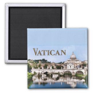 Ciudad del Vaticano vista del texto VATICAN del rí Imán De Nevera