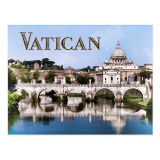 Ciudad del Vaticano vista del texto VATICAN del Tarjetas Postales