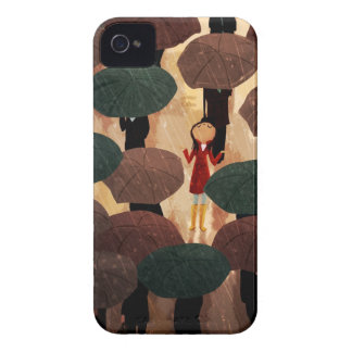 Ciudad en la lluvia de Nidhi Chanani Case-Mate iPhone 4 Protectores