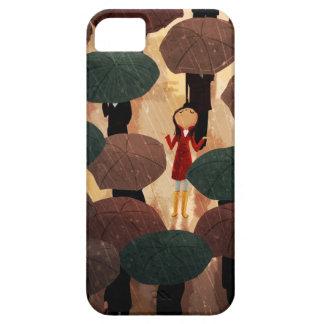 Ciudad en la lluvia de Nidhi Chanani Funda Para iPhone 5 Barely There