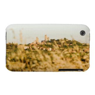 Ciudad en una colina, provincia de San Gimignano,  iPhone 3 Case-Mate Cárcasa