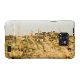 Ciudad en una colina, provincia de San Gimignano,  Samsung Galaxy S2 Funda