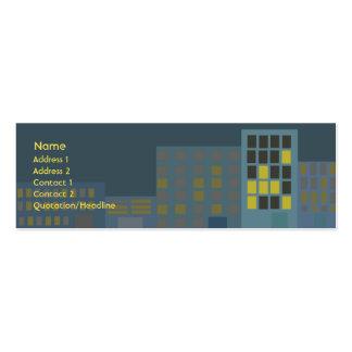 Ciudad - flaca tarjetas de negocios