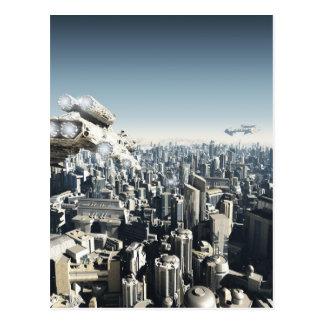 Ciudad futura bajo ataque postal