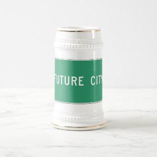 Ciudad futura, marcador del camino, Illinois, los Jarra De Cerveza