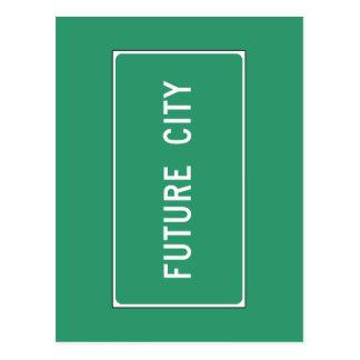 Ciudad futura, marcador del camino, Illinois, los Postal