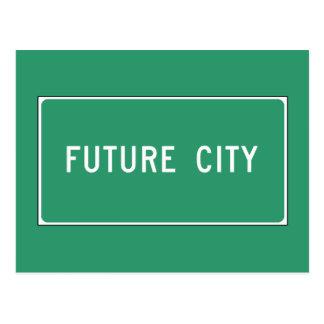 Ciudad futura, marcador del camino, Illinois, los Tarjetas Postales