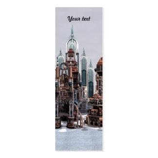 Ciudad futurista tarjetas de visita mini