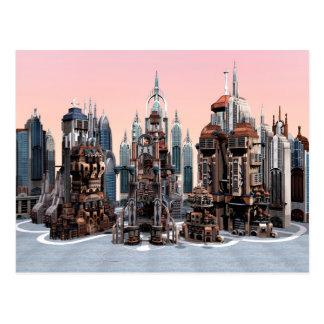 Ciudad futurista tarjeta postal