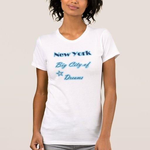 Ciudad grande de Nueva York de la camiseta de los