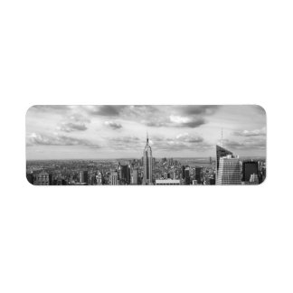 ciudad   grande los E.E.U.U. Nueva York c de Etiqueta De Remitente