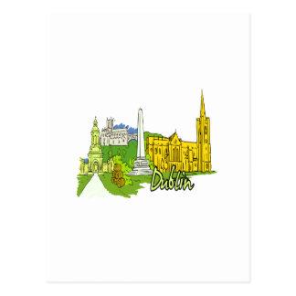 ciudad graphic.png de Dublín Irlanda Tarjetas Postales
