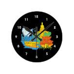 ciudad graphic.png de Hong-Kong Reloj De Pared