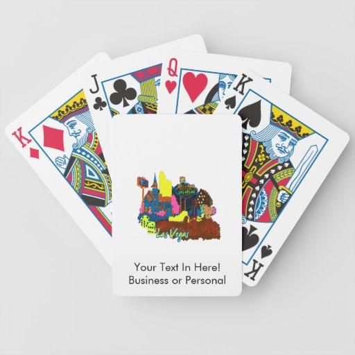 ciudad graphic.png de la acuarela de Las Vegas Nev Baraja Cartas De Poker