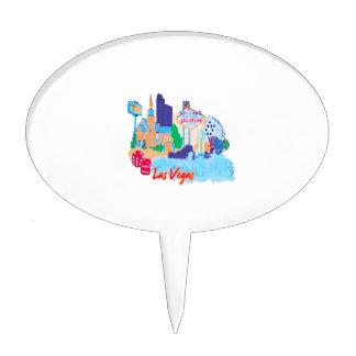 ciudad graphic.png de la acuarela de Las Vegas Nev Figuras De Tarta