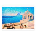 Ciudad Grecia de Santorini Postales