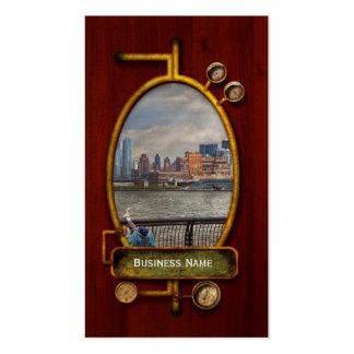 Ciudad - Hoboken, NJ - pesca - la buena vida Tarjetas De Visita