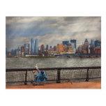 Ciudad - Hoboken, NJ - pesca - la buena vida Tarjeta Postal